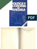 Política y Economía en Venezuela. 1810-1991