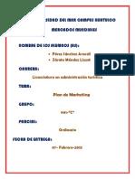 Ordinario Plan de Marketing Araceli Perez Sanchez y Lizzet Zárate Méndez 901-c