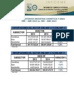 Informe Comercio Exterior ENE-ABR 2013-2014_20140819_121812