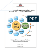 Plano de Gestão Orçamentaria Ufpa 2014