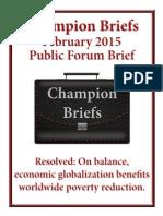 Champion Evidence Globalization Poverty