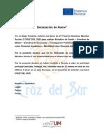 CS Declaracion de Honor - ES