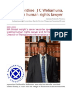 On the Frontline J C Weliamuna, Sri Lankan Human Rights Lawyer