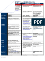 Continental zed interlines agreement list
