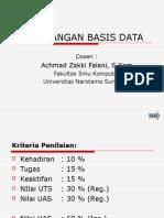Penjabaran Perancangan Basis Data
