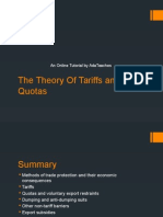The Theory of Tariffs and Quotas