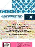 Clasificación de Mobiliario, Equipo y Herramientas de cocina