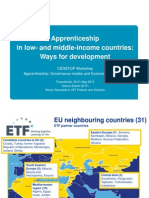 Apprenticeship in Low- And Middle-Income Countries - Ways for Development Helmut Zelloth