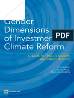 Gender Dimensions of Investment Climate Reform
