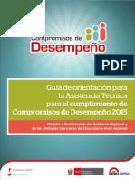 Guía de orientación para la Asistencia Técnica para el cumplimiento de Compromisos de Desempeño 2015