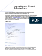 Difference Between a Computer Science & Information Technology Degree
