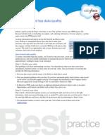 6 steps toward top data quality