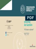 Informe de Gestión de la PGR - Paraguay