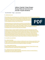 Analisis Usaha Budidaya Tambak Udang Dengan Pendekatan Tata Ruang Wilayah Pada Kawasan Pengembangan Ekonomi Terpadu Batulicin