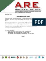 Additional Evacuation Orders 1-20-10