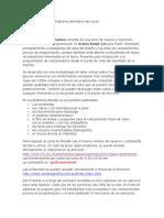 Grafica Interactiva, Programa Calendario 2015-1