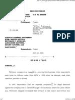 Abesco Construction & Devt Corp v Ramirez - GR 141168 (10 April 2006)
