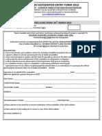Dubbo Eisteddfod Entry Form 2015