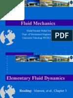 UTP - Fluid Mechanics Course - September 2012 Semester -  Chap 3 Bernoulli Equations