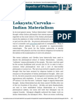 Lokayata_Carvaka – Indian Materialism _ Internet Encyclopedia of Philosophy
