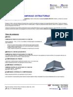 Campanas Extractoras Ficha Tecnica