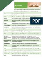 literary techniques pdf