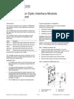 3101835 R1.0 3-FIBMB2 Fiber Optic Interface Module Installation Sheet