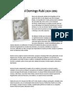 Biografia del General Domingo Rubí