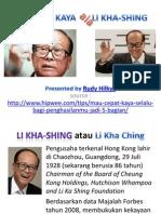 Cara Kaya Ala Li Kha-shing