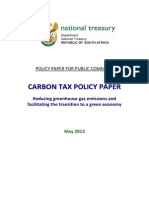 Carbon Tax Policy Paper May2013