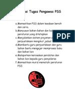 Senarai Tugas Pengawas PSS