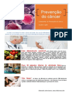 Campanha de prevenção do câncer