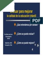 evaluacion educacion infantil