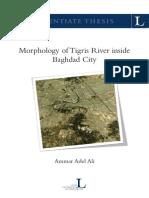 Morphology of Tigris River inside Baghdad City