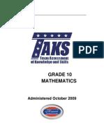 10th Grade Mathematics