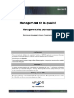 AC X 50-178_Management Processus