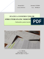 Statica Constructiilor, Structuri Static Nedeterminate