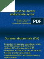 Diagnosticul Durerii Abdominale Acute an VI 2012