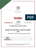 Grade 12 Titration Stellenbosch Version Prac Sheet ONLY