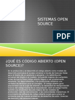 Sistemas Open Source