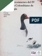 Libro Resumenes IV Congreso Colombiano de Ornitología 2013