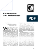 Consumption and Materialism