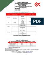 Cronograma y Forma de Pago Para El Festivales Sectoriales y Regional 2010