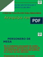 Capacitacion Arequipa Renace, Elecciones Regionales y Municipales 2014