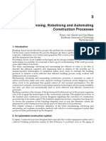 Mechanising, Robotising and Automating Construction Processes[1]