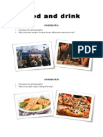 FCE speaking food and drink