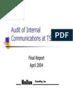 Internal Communication Audit
