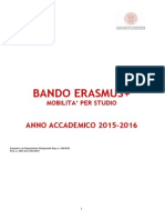 Bando Erasmus Studio