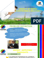 Sustainability at Wipro Case Analysis