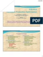 Introduction to Petroleum Production and Optimisation